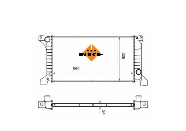 Accéder à la pièce Radiateur 2.0L - 2.0iL - 2.5L Diesel