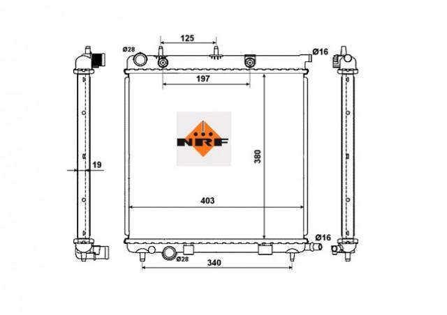Accéder à la pièce Radiateur essence 1,4L - 1,6L