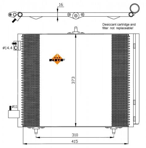 Accéder à la pièce Condenseur de climatisation 1,4L - 1,6L 16V- 1,4L Hdi