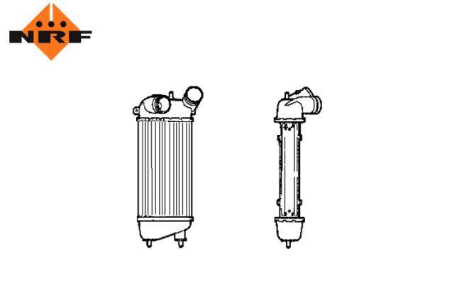 Accéder à la pièce Refroidisseur echangeur air  1.4L Hdi