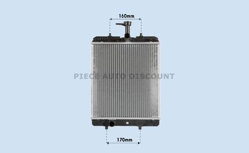 Accéder à la pièce Radiateur essence 1,4L Hdi