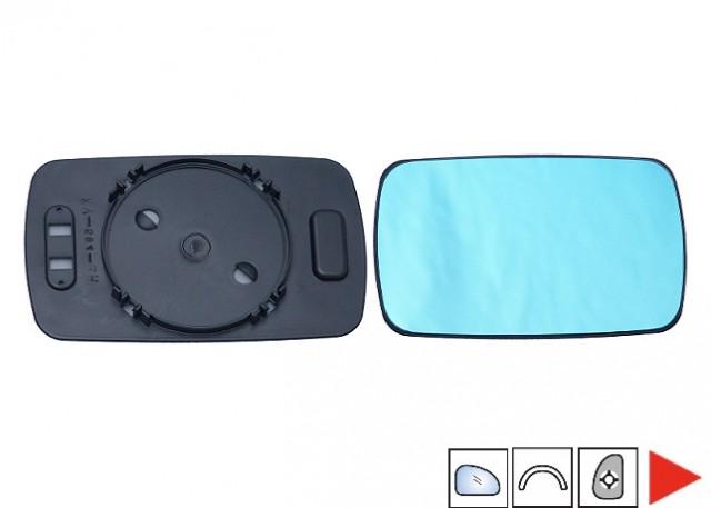 glace bleue support r troviseur droit bmw serie 3 e46 4 portes phase 1 du 03 1998 au 09 2001. Black Bedroom Furniture Sets. Home Design Ideas