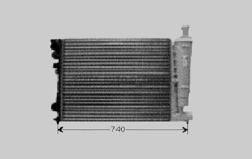 Accéder à la pièce Radiateur eau 2,0L16v /2,0L turbo -clim