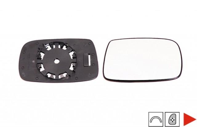 glace support r troviseur droit toyota yaris i phase 1 3 5 portes du 04 1999 au 02 2003 oem. Black Bedroom Furniture Sets. Home Design Ideas