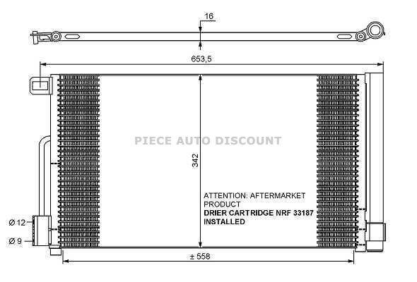 Accéder à la pièce Condenseur de climatisation 1.4L TB - 1.8L Tbi