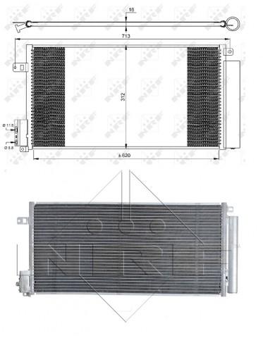 Accéder à la pièce Condenseur de climatisation 1.6L JTDM - 2.0L JTDM