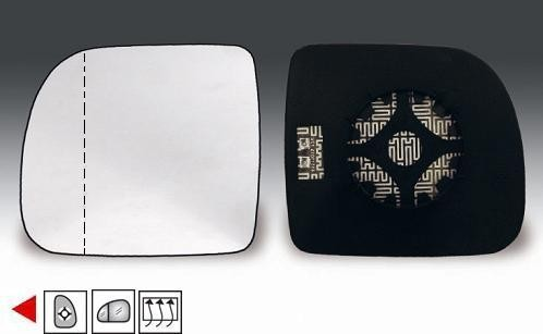 Accéder à la pièce Glace + support rétroviseur gauche chauffant  (grand angle) 94->