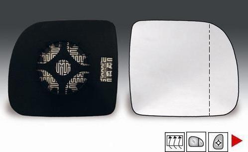 Accéder à la pièce Glace + support rétroviseur droit chauffant (grand angle) 94->