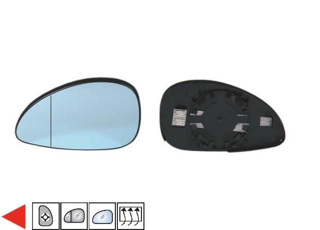glace bleue support r troviseur gauche chauffant grand angle 09 citroen c4 i phase 2 du 07. Black Bedroom Furniture Sets. Home Design Ideas