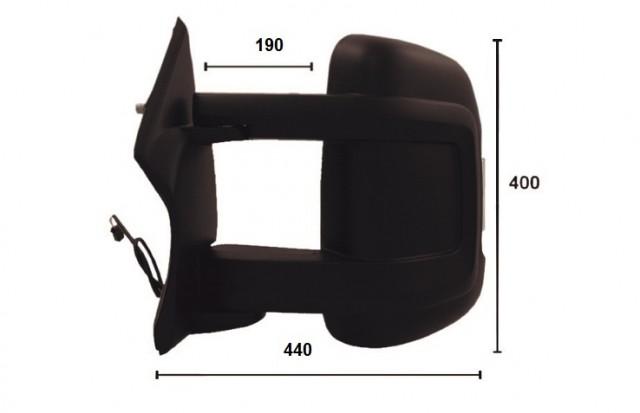 r troviseur gauche lectrique chauffant feu long fiat. Black Bedroom Furniture Sets. Home Design Ideas