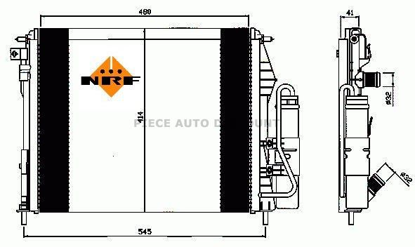 module radiateur condenseur renault clio ii phase 2 du 06 2001 au 08 2005 oem 8200211563. Black Bedroom Furniture Sets. Home Design Ideas