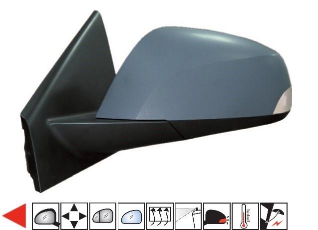 Accéder à la pièce Rétroviseur gauche électrique, chauffant, rabattable à peindre + sonde + feu [grand angle]