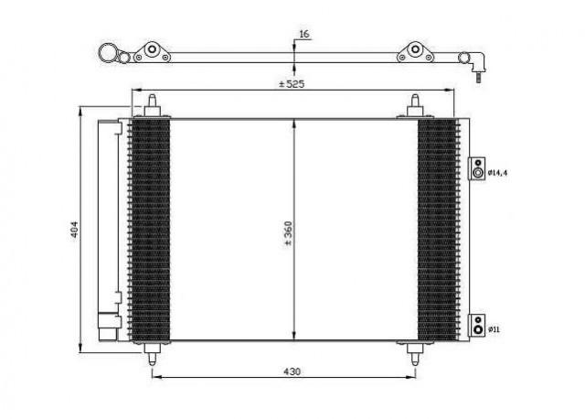 Accéder à la pièce Condenseur de climatisation 1.6L 16v