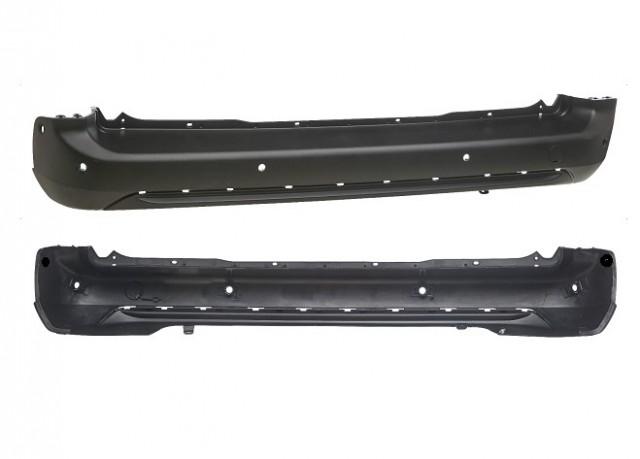 Accéder à la pièce Pare-chocs arrière central noir + 6 capteurs et enjoliveur