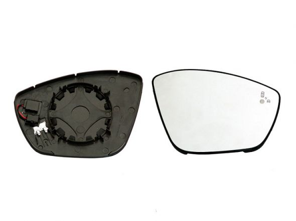 Accéder à la pièce Glace + support rétroviseur droit chauffant [Side]